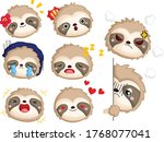 a vector of many face and... | Shutterstock .eps vector #1768077041