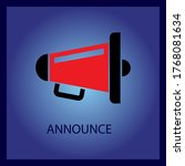 announcement icon. black and... | Shutterstock .eps vector #1768081634