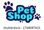 pet shop logo design template.... | Shutterstock .eps vector #1768087631