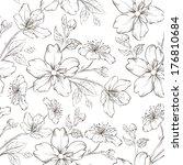 Cherry Blossom Seamless Pattern....