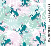 Tropical Frogs Pattern....