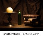 Still Life Candle Candlestick...