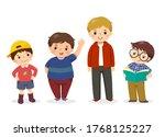 vector illustration of cute... | Shutterstock .eps vector #1768125227