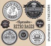 vector set of retro badges for... | Shutterstock .eps vector #176813084