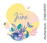 monthly calendar page with text ... | Shutterstock .eps vector #1768135937