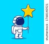 cute astronaut holding star... | Shutterstock .eps vector #1768140521