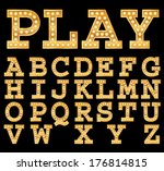 Marquee Letters Free Vector Art 3737 Free Downloads