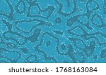 green repeated ripple graphic... | Shutterstock .eps vector #1768163084