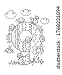 coloring page   numbers. ... | Shutterstock .eps vector #1768231094