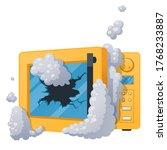 microwave spoiled with broken...   Shutterstock .eps vector #1768233887