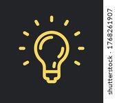 idea icon  shinning light bulb. ...   Shutterstock .eps vector #1768261907