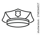 police officer cap icon.... | Shutterstock .eps vector #1768266017