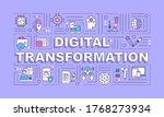 digital transformation word...