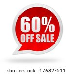 sixty percent off | Shutterstock . vector #176827511