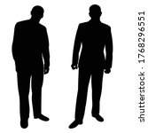 isolated  men stand  black... | Shutterstock .eps vector #1768296551