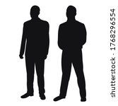 vector  isolated  men stand ... | Shutterstock .eps vector #1768296554