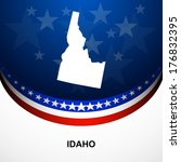 america,american,background,border,country,earth,flag,home,icon,idaho,label,land,landmark,map,mark