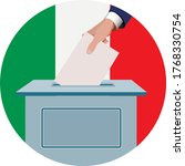 voting in italy election of... | Shutterstock .eps vector #1768330754
