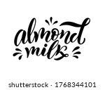 vegetarian  organic  almond...   Shutterstock .eps vector #1768344101