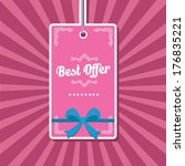 vintage pink vector background... | Shutterstock .eps vector #176835221