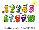 funny number for children with... | Shutterstock .eps vector #176835989