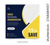 school admission social media... | Shutterstock .eps vector #1768384457