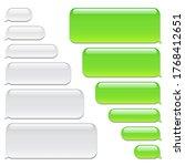 blank vector message bubbles.... | Shutterstock .eps vector #1768412651