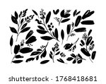 plant branches with small... | Shutterstock .eps vector #1768418681