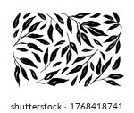 brush branches with long leaves ... | Shutterstock .eps vector #1768418741