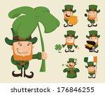 set of leprechaun characters... | Shutterstock .eps vector #176846255