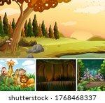 four different nature scene of... | Shutterstock .eps vector #1768468337