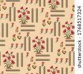 seamless mughal floral motif... | Shutterstock .eps vector #1768517324