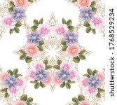 flower print. elegance seamless ... | Shutterstock . vector #1768529234