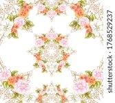 flower print. elegance seamless ... | Shutterstock . vector #1768529237