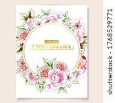 romantic wedding invitation... | Shutterstock .eps vector #1768529771