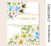 romantic wedding invitation... | Shutterstock .eps vector #1768529801