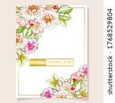 romantic wedding invitation... | Shutterstock .eps vector #1768529804