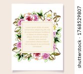 romantic wedding invitation... | Shutterstock .eps vector #1768529807