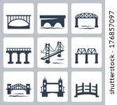 Vector Isolated Bridges Icons...