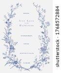 vintage floral vector wreath.... | Shutterstock .eps vector #1768572884