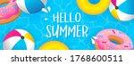 hello summer banner vector... | Shutterstock .eps vector #1768600511