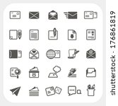 mail icons set | Shutterstock .eps vector #176861819