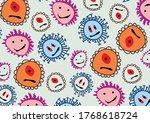 monsters children's drawing...   Shutterstock .eps vector #1768618724