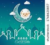 eid al adha greeting card...   Shutterstock .eps vector #1768620857