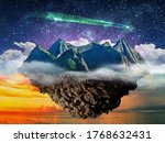 fantasy night lanscape ... | Shutterstock . vector #1768632431