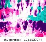 tie dye vector. bohemian art.... | Shutterstock .eps vector #1768637744