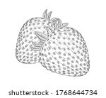 Garden Strawberry Fruit Vector...