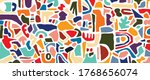 abstract background vector with ... | Shutterstock .eps vector #1768656074