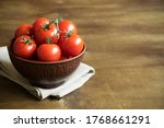 Fresh Ripe Cherry Tomatoes In A ...