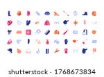 set of equestrian icons  horse... | Shutterstock .eps vector #1768673834
